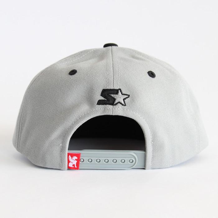 CHROME (クローム) STARTER SNAPBACK CAP (スタータースナップバックキャップ) TYPE1 GREY / BLACK