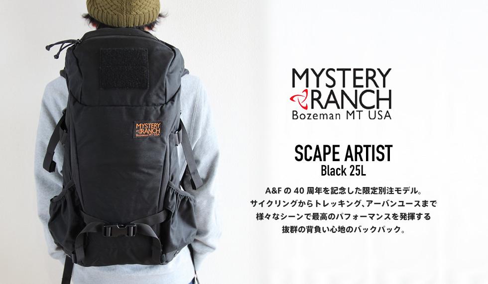 SCAPE ARTIST (スケープアーティスト) Black - MYSTERYRANCH (ミステリーランチ)